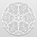 Lacy Paper Doily, Decorative Flower, Decorative Snowflake Royalty Free Stock Photos - 66516508