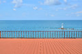 Summer View With Empty Terrace Royalty Free Stock Photos - 66519428