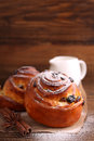 Buns With Raisins And Powdered Sugar Royalty Free Stock Images - 66528389