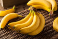 Raw Organic Bunch Of Bananas Stock Image - 66537851