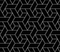 Vector Modern Seamless Geometry Pattern Trippy, Black And White Abstract Stock Image - 66538521