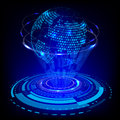 Abstract Future Technology And World Map Concept Background Royalty Free Stock Photo - 66546865