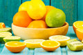 Ripe Kiwi, Lime, Lemon, Orange Fruit On Wooden Vintage Background. Healthy Vegetarian Food. Stock Image - 66549221