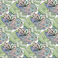 Zen Art Floral Vector Pattern. Zentangle Coloring Page. Doodle Seamless Background With Flowers And Leaves Stock Images - 66550614