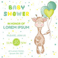 Baby Shower Or Arrival Card Royalty Free Stock Image - 66566366