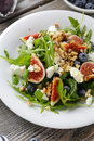 Fig Salad With Soft Cheese Royalty Free Stock Images - 66568089