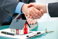 Handshakes With Customer After Contract Signature Stock Photo - 66571260