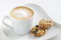 Oatmeal Cookie With Coffee Stock Images - 66578804
