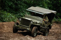 Willy Jeep In Mud Royalty Free Stock Photography - 66583307