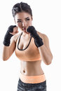 Boxing Woman Royalty Free Stock Photography - 66597247