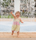 Toddler Playing With Water Stock Images - 66599184