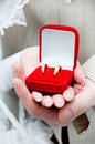 Bride And Groom Holding Rings Royalty Free Stock Image - 6663656