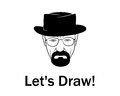 Let S Draw Man In A Hat With Beard Royalty Free Stock Photography - 66613867