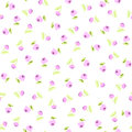 Seamless Floral Pattern With Pink Roses Stock Photo - 66620620