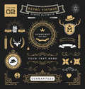 Set Of Retro Vintage Graphic Design Elements Royalty Free Stock Photography - 66663657