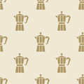 Italian Coffee Maker Moca Pattern Tile Background Seamless Stock Images - 66676974