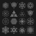 Sacred Geometry Vector Design Elements. Alchemy, Religion, Philosophy, Spirituality, Hipster Symbols And Elements. Royalty Free Stock Images - 66685999