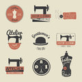 Set Of Vintage Tailor Labels, Emblems And Design Elements. Retro Royalty Free Stock Image - 66692816