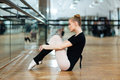 Ballerina Resting On The Floor Royalty Free Stock Photography - 66703087