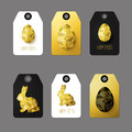 Flat Design Easter Taggs. Royalty Free Stock Images - 66709219