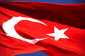 Turkish Flag Royalty Free Stock Photography - 66721757