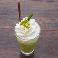 Green Tea Frappe Royalty Free Stock Photography - 66724797