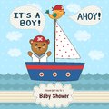 Cute Baby Shower Invitation Card It S A Boy Stock Images - 66729824