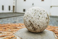 Stone Ball In Mantua, Lombardy (Italy) Royalty Free Stock Photo - 66735655