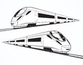 Set Of Modern High Speed Train Silhouettes Royalty Free Stock Photos - 66758388