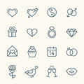 Love Line Icons Royalty Free Stock Photos - 66766638