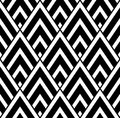 Vector Modern Seamless Geometry Pattern Triangle, Black And White Abstract Royalty Free Stock Photo - 66766685