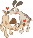 Dogs In Love Sniffing Butts Royalty Free Stock Image - 66767446
