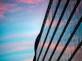Sunset Reflection In Building. Budapest, Europe, Royalty Free Stock Photo - 66782155