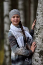 Smiling Teen Girl In A Gray Beret Royalty Free Stock Images - 66783299