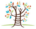 Ladder Learning Tree Royalty Free Stock Image - 66797836