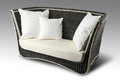 Wicker Sofa With Pillows Royalty Free Stock Image - 66798636