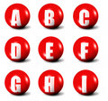 Alphabet Made Of Red 3D Spheres Royalty Free Stock Photos - 6681298