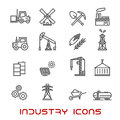 Industry And Ecology Thin Line Icons Royalty Free Stock Photo - 66808745
