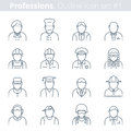 People Professions And Occupations Outline Icon Set 1 Stock Photos - 66824143