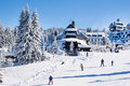 Panorama Of Ski Resort Kopaonik, Serbia, People, Houses Covered With Snow Royalty Free Stock Photography - 66826237