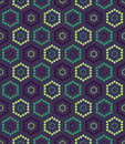 Vector Modern Seamless Colorful Geometry Hexagon Pattern, Color Abstract Royalty Free Stock Photos - 66826648