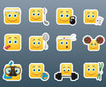 Sport Emoticon Smile Stickers Set Stock Photos - 66833473