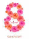 Floral Text For International Women S Day. Royalty Free Stock Image - 66870246
