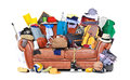 Large Leather Sofa Stock Photos - 66877453