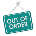 Out Of Order Sign Royalty Free Stock Photography - 66888837