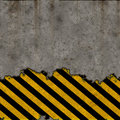 Hazard Stripes Torn Wall Royalty Free Stock Photo - 6695455