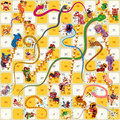 Snake And Ladder Board Game Chinese New Year Vector Stock Image - 66939861