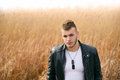 Portrait Of Fashion Man In Leather Jacket Stock Photo - 66954020