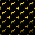 Gold Yellow Dogs Faux Foil Metallic Dog Polka Dots Black Background Royalty Free Stock Photo - 66963545