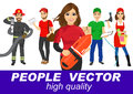 People Vector With Various Characters Stock Photography - 66980942